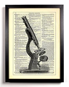 Scientific Microscope Repurposed Book Upcycled by StayGoldMedia, $6.99