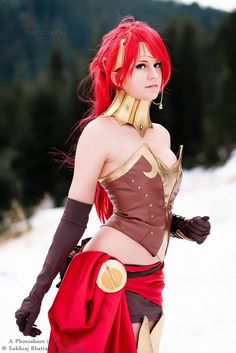 Pyrrha Nikos from RWBY  Cosplayed by Sheena Duquette Photographed by Sukhraj Bhattal Photography Source:  Worldcosplay.net