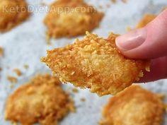 Chips parmesão farinha coco