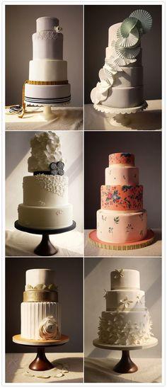 Modern Wedding Cakes via 100 Layer Cake