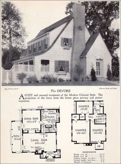 I like the addition of the toilet on the first floor. Seems simple enough. 1928 Modern Colonial House & Plan