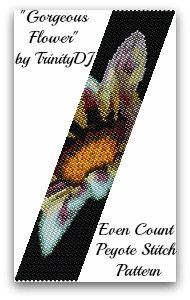 BP-FLO-066-Gorgeous Flower-Even Count Peyote Stitch by TrinityDJ