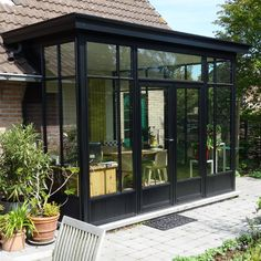 Realization of verandas Garden Room Extensions, House Extensions, House Extension Design, House Design, Outdoor Rooms, Outdoor Living, Veranda Pergola, Bay Window, Exterior Design