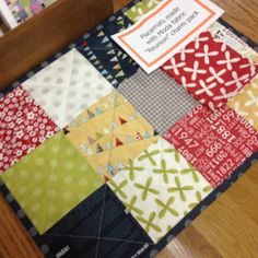 Placemats from a charm pack