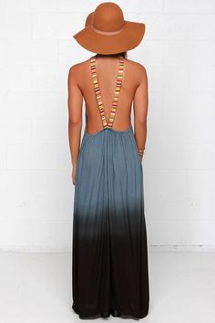 Southwest Sunset Slate Blue Dip-Dye Maxi Dress at Lulus.com!