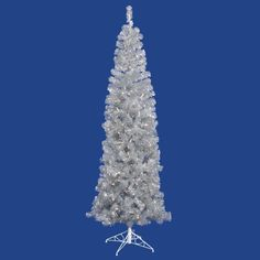 $61.99-$79.99 Vickerman 4.5 Foot Silver Pencil Christmas Tree - Since 1940, the Vickerman family has been selling seasonal decorations such as Christmas trees to retailers across North America. Three generations later they have stayed the course, by providing top quality products at great values. Trust Vickerman to deliver that special decorative touch to your holiday season. Features:  10 year  ...