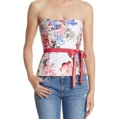 Spring Beauty! This bustier is such a spring beauty. It goes wonderful with the blush pink skirt! It's so sweet and cute! A head turner!.   No belt. Not flattering. Recommend another kind of belt! Look in the closet! If u need advice let me know!  White House Black Market Other
