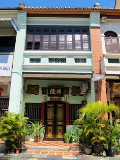 Chinese Shophouse. Armenian Street, Penang Malaysia.