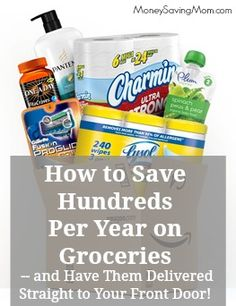 Did you know you can often get amazing prices for groceries from Amazon's Subscribe & Save Program? My favorite part is that shipping is FREE and they'll deliver directly to your doorstep. You can't beat that!