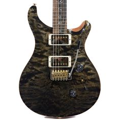 PRS CME Wood Library Custom 24 10 Top Quilt w/Pattern Regular Neck Obsidian (Serial #235367) | Chicago Music Exchange