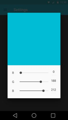 Matieral App RGB Color Sliders | Flat User Interface #UI Design