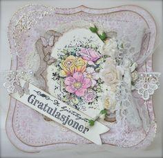 Stempelglede :: Design Team Blog. Rubber stamps used for this project: Vintage Garden and Gratulerer med dagen stamp sets. 2014 © Cathrine Sandvik