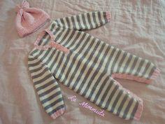 La Mimmiita: Vauvan neulottu jumpsuit ja pipo