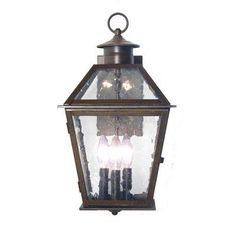 2nd Ave Design Corrina 3 Light Outdoor Wall Lantern Finish: Gilded Tobacco, Shade Type: Tea Stained