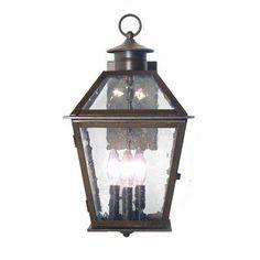 2nd Ave Design Corrina 3 Light Outdoor Wall Lantern Finish: Antique Rust