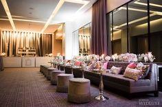 Ultra glam seating area. | Photography: Ikonica | #fourseasons #Toronto #weddings #fsweddings #bridal #springwedding #spring