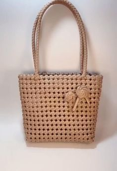 Flax Weaving, Weaving Art, Basket Weaving, Diy Crafts Hacks, Diy Home Crafts, Arts And Crafts, Sac D'art, Diy Handbag, Art Bag