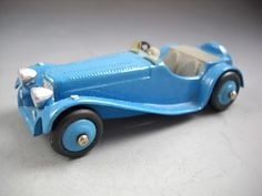 Dinky Toys Meccano Ltd England 38F Blue Jaguar SS Sports Car No Box #DinkyToys #Jaguar