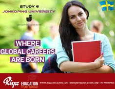 Study at Jonkoping University, Sweden.  For more details get in touch with Riya Education. Visit our website.