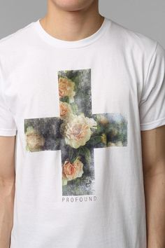 Profound Aesthetic Floral Cross Tee #urbanoutfitters