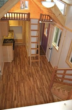 Just got an email this morning from the folks over at Molecule Tiny Homes. Remember their surfer's oceanfront tiny house that they built for a client? And their spacious tiny home with a flip… Tiny House Swoon, Tiny House Cabin, Tiny House Living, Tiny House Plans, Tiny House Design, Tiny House On Wheels, Tiny House Movement, Attic Renovation, Tiny Spaces