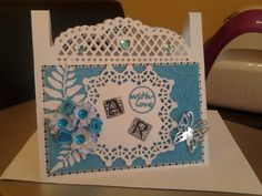Aniversary card made with tonic dies