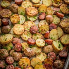 easy sausage recipes These roasted potatoes arkie ultra crispy HTCand flavorful with a perfect browning on the coins of kielbasa. Easy, one-pan roasted potatoes and sausage recipe Roasted Potatoes And Sausage Recipe, Kilbasa Sausage Recipes, Eckrich Sausage, Kielbasa And Potatoes, Easy Sausage Recipes, Potatoes In Oven, Johnsonville Sausage Recipes, Roasted Baby Red Potatoes, Mayonnaise