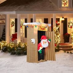 Animated Santa Inflatable Christmas Airblown Yard Decor 6 ft Lighted Outdoor NEW #Gemmy