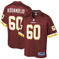 Arie Kouandijo Washington Redskins NFL Pro Line Big   Tall Player Jersey –  Burgundy 3a2310b62