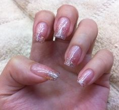 gelish pink sparkle!