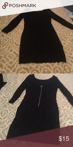 Forever 21 Black long sleeve dress Only worn once! Black lace dress with long sleeve. Very firm fitting for a fun night out, New Years, or any holiday party! Dress it up with accessories! Forever 21 Dresses Long Sleeve