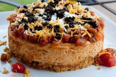 Mexican Appetizer Cheesecake - a savory appetizer cheesecake.  Are you kidding me?  So delicious!