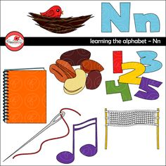 Learning the Alphabet - The Letter N Clipart by Poppydreamz