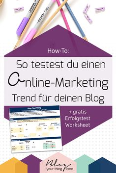 How To: So testest du einen Online-Marketing Trend für deinen Blog | Hacks und Tipps für Blogger um deinen Blog erfolgreich zu machen