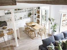 〚 Cozy designer's home in Barcelona 〛 ◾ Photos ◾ Ideas ◾ Design #livingroom #open #warm #white #sofa #interior #design #homedecor #home #decor #interiordesign #idea #inspiration #cozy #living #space #style