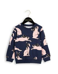 Mini Rodini - Donkerblauwe Rabbit sweater