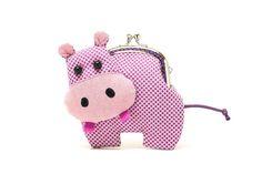 Little romantic purple hippo clutch purse por misala en Etsy, $27.90