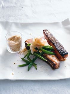 miso salmon with sesame salt