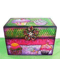 Cupcake Recipe Box