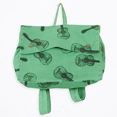 School bag with guitars print by Bobo Choses