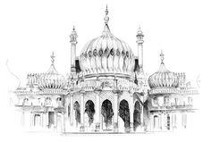 Crow, Brighton, Taj Mahal, Building, Illustration, Travel, Collage, Raven, Viajes