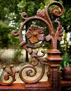 old iron gate Old Gates, Iron Gates, Garden Gates, Garden Art, Rust Never Sleeps, Rust In Peace, Peeling Paint, Rusty Metal, Iron Work
