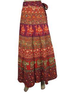Designer Wrap Around Skirts Boho Hippie Purple Red Green Animal Floral Print Wrap Skirt for Women Mogul Interior, http://www.amazon.com/dp/B009SIWGR0/ref=cm_sw_r_pi_dp_I1gGqb19AMWYM