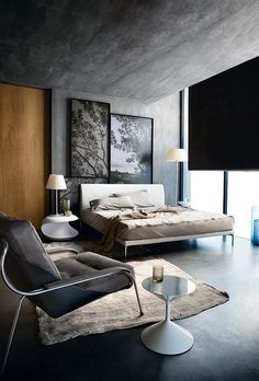 Instead of matching bedside tables this is perfect Interior Design Tips, Architectural Digest, Home Improvement Projects, Bed Design, Good Advice, Diy Home Decor, Magazines, November, Journals