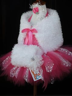 Oh my GOSH!  I'd LOVE to have this for my little girl!  Snow Fairy Pink Princess Tutu Set Pageant Wear by Baby2BNashville, $135.00