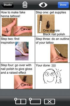 how to make a temporary tattoo at home - Google Search