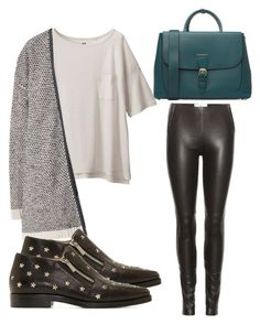 """Untitled #2764"" by evalentina92 ❤ liked on Polyvore featuring Maison Margiela, Uniqlo, MANGO, Burberry and Jimmy Choo"