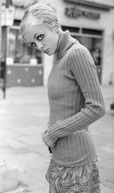 Twiggy-Loved the skinny rib jumpers