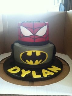 Spiderman Cake Ideas for Little Super Heroes - Novelty Birthday Cakes Spiderman Cake Topper, Spiderman Theme, Superhero Theme Party, Batman Spiderman, Superhero Cake, Batman Birthday Cakes, Novelty Birthday Cakes, Batman Cakes, 4th Birthday