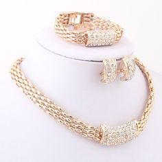 Jewelry Set Fashion Alloy Necklace Earring Sets Africa Dubai Wedding Jewelry Set #Unbranded